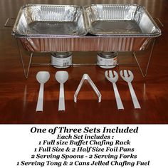 Amazon.com: 33 piece Buffet Chafer Chafing Serving Kit & Food Warmers - 3 Complete Sets!: Chafing Dishes: Kitchen & Dining