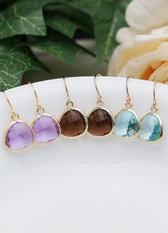 Set of 3 dangle earrings. love!