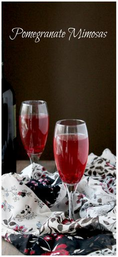 Pomegranate juice adds a festive and delicious spin to your favorite Mimosa.