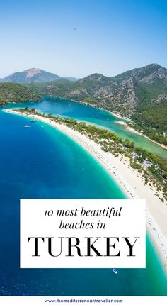 This beautiful country is a mind-blowing destination for beach-lovers. But which are the top 10 best beaches in Turkey you should make a beeline for on your travels? Here are 10 stunning sandy beaches and secret coves for your bucket-and-spade-list. #beach #turkey #travel #tmtb