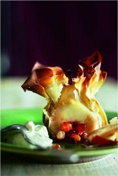 Krokante peren met vanilleroom - Boodschappen - met Forell OER-fruit