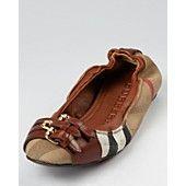 Burberry Ballerina Flats  - Bridle Housecheck Falcony