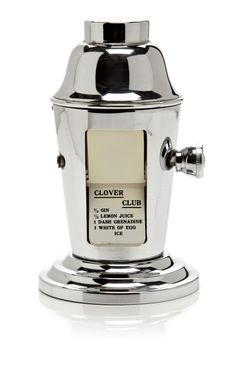 Vintage Chrome Faux Cocktail Shaker With Recipe Rotary by Cary Collection for Preorder on Moda Operandi