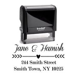 Personalized Self Inking Stamp - Return Address Stamp Customized - Custom Rubber Stamp - Housewarming Gift - Wedding Address Labels - Large 3 Lines - Family Last Name Customized Stamp
