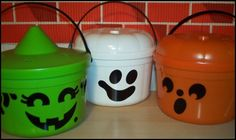 McDonald's Happy Meal Trick or Treating buckets