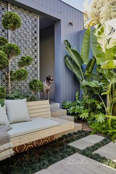 Balmain – Landscape Design project The Effective Pictures We Offer You About tropical garden ideas w Building A Porch, House With Porch, Outdoor Flooring, Backyard Projects, Tropical Garden Design, Outdoor Rooms, Small Garden, Bali Garden, Outdoor Decor