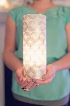 DIY: Una lampara elegante en 3 pasos