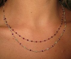 Tiny Double Strand Beaded Necklace