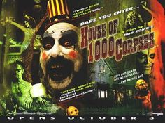 Rob Zombie's film directorial debut, House of 1000 Corpses, turns 16 years old. Zombie Movies, Scary Movies, Great Movies, Awesome Movies, Newest Horror Movies, Horror Films, Rob Zombie, Memes Arte, White Zombie