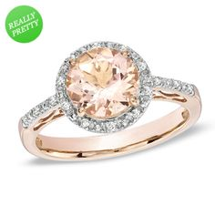 I've tagged a product on Zales: 8.0mm Morganite and Diamond Accent Frame Ring in 10K Rose Gold