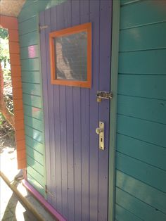 Sheds should never be boring ! Colour makes me happy