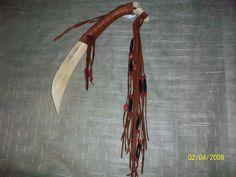 OOAK Buffalo Rib Bone Wall Decor with Fringe- Chevron-Horn Bone and Glass Trade Beads - Native American. $45.49, via Etsy.