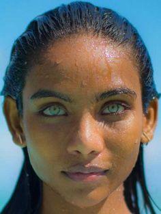 Maldivian girl w/aqua blue eyes. Beautiful Eyes Color, Stunning Eyes, Gorgeous Eyes, Pretty Eyes, Beautiful Black Women, Beautiful Children, Cool Eyes, Pretty People, Beautiful People