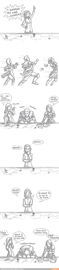 Dragon age war Council..