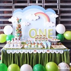 """""""Charlie and the Numbers dessert table decoration for George 1'st Birthday Party #handkerchiefid"""""""