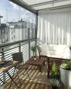 Balcony decor / apartment balcony ideas.