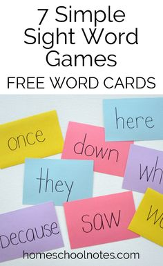 Flipping through flash cards and reading sight word lists are boring. These seven simple sight word games for kids learning to read make learning fun. E Learning, Learning To Read Games, Reading Games For Kids, Word Games For Kids, Language Games For Kids, Phonics Games For Kids, Kindergarten Sight Word Games, Teaching Sight Words, Reading Games For Kindergarten