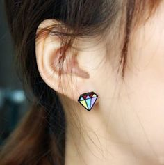 Aliexpress.com : Buy 72119 diamond style earrings jewelry fashion personality multicolour stud earring from Reliable earings fashion jewelry suppliers on Jessie's shop. $6.89