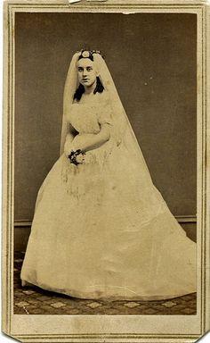 California Bride - cdv by William Shew, San Francisco, circa 1865