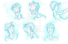 Walter ghost expression sheet by Bonka-chan.deviantart.com on @deviantART