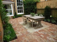 Clay pavers for patio to side of kitchen by Claudia de Yong Designs