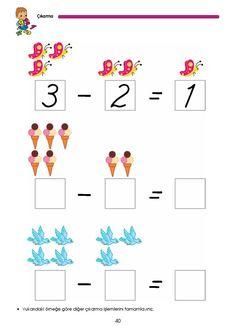 okul öncesi nesnelerle basit çıkarma işlemi - Google'da Ara Subtraction Worksheets, 1st Grade Worksheets, Homeschool Preschool Curriculum, Preschool Activities, Math 4 Kids, Kumon, Printable Mazes, Poster Background Design, School Lessons