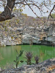 Otjikoto lake in Namibia, Africa www.shongololo.com