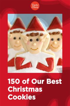 150 of Our Best Christmas Cookies Best Christmas Cookie Recipe, Christmas Baking, Christmas Ornaments, Peppermint Meringues, Holiday Desserts, Holiday Decor, All Things Christmas, Cookie Recipes, Gingerbread