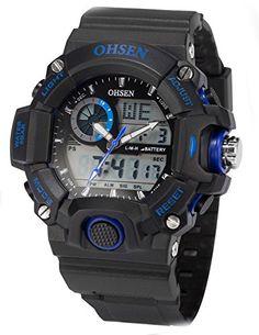 AMPM24 Dual LCD Anzeige Herren Armbanduhr Quarzuhr mit Armband aus Silikon Sport Uhr OHS218 - http://uhr.haus/ampm24-2/ampm24-dual-lcd-anzeige-herren-armbanduhr-mit-aus
