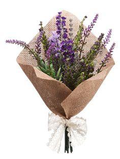 """Lavender Bouquet 11.5"""" Lavender Purple"""