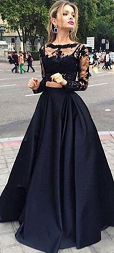 Black Lace Prom Dresses, Floor-Length Evening Dresses, Real Made Charming Evening Dresses, Prom Dresses