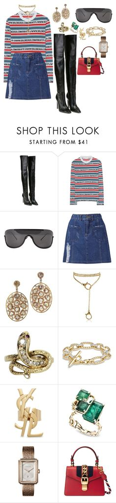 """""""Untitled #515"""" by ga-gs ❤ liked on Polyvore featuring Balenciaga, Acne Studios, Vintage, David Yurman, Yves Saint Laurent, Chanel and Gucci"""