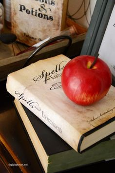 FREE Printable Halloween Spells Book Cover for your Halloween Decor or Halloween Party   theidearoom.net