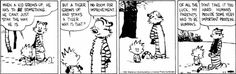 Calvin has to BE something