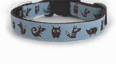 Hog-collar-with-foxes-mice-owlsand. Honden halsband met uil.