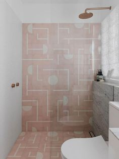 8 Startling Tips: Interior Painting Pink bathroom paintings navy.Interior Painting Tips Ideas. Pink Bathroom Tiles, Pink Tiles, Modern Bathroom, Small Bathroom, Pink Bathrooms, Minimal Bathroom, Blush Bathroom, Bathroom Ideas, Shower Tiles