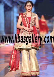 Wonderful Wedding Anarkali Dress with Embellished Bell Bottom Pants for Wedding and Special Occasions - A great day needs a perfect #BridalWear! Give your Weeding outfit a fresh look n modish update with #luxe  #onlineshopping #luxurybrands #london #dubai #sharjah #mumbai #delhi #goa #hautecouture #Weddingsummer2017 #summerWeddings #springWeddings #events #reasonableprice #affordablefashion #shoponline #shopnow  #newcollection www.libasgallery.com #UK #USA #Canada #Australia #France #Germany