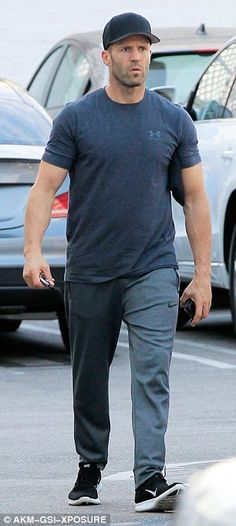 Handsome hubby-to-be:Rosie is engaged to Hollywood hardman Jason Statham who was seen run...