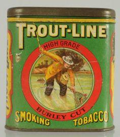Trout Line Vertical Pocket Tobacco Tin