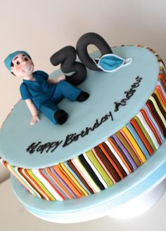 Doctors Cake With Paul Smith Stripes