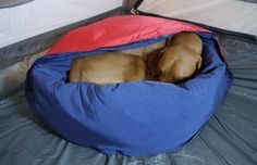 Noblecamper's Camping Dog Bed Keeps Pets Warm During Frigid Nights Outside #camping trendhunter.com