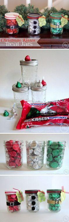 Christmas Kisses Treat Jars.