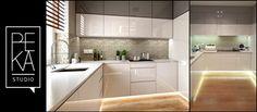 WIZUALIZACJA VS REALIZACJA - Średnia zamknięta kuchnia w kształcie litery l, styl nowoczesny - zdjęcie od PEKA STUDIO
