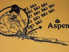 Aspen Skiing Jersey T Shirt Medium Large Colorado
