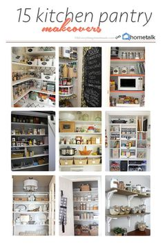 15 Kitchen Pantry Makeovers Above all, the budget is always playing an important part in my projects. But even with a personal demand for style and charm, you can achieve a budget-friendly makeover. - Own Kitchen P Kitchen Pantry, Kitchen Items, Kitchen Decor, Pantry Storage, Kitchen Storage, Pantry Inspiration, Pantry Makeover, Diy Furniture Projects, Diy Projects