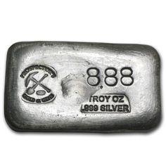 oz Prospector's Gold & Gems Silver Bar Fine for sale online Silver Ingot, Aur, Silver Bars, Apocalypse, Metals, Gems, Ebay, Vintage, Coins