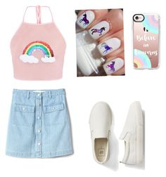 """""""UNICORNS 🦄 🦄"""" by magui005 ❤ liked on Polyvore featuring Casetify and Gap"""