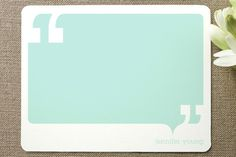 Talk bubble personalized stationary.