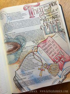 Live It: Deuteronomy 32:47 in Krista Hamrick's journaling Bible