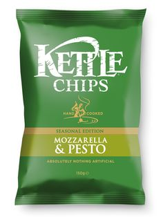 Try KETTLE® Chips new flavour! Mozzarella and Pesto!